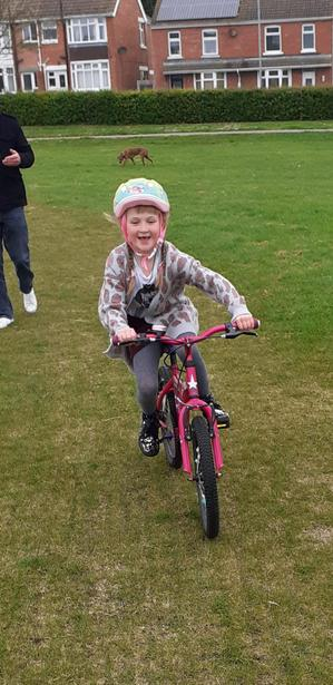 Learning to ride without stabilisers