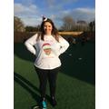 Mrs Woodsford won the 'Worst Christmas Jumper' award.