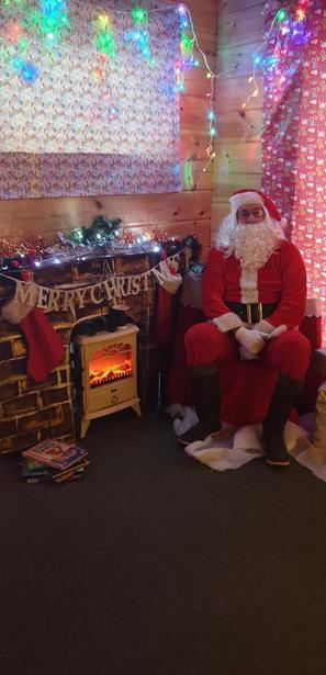 The Elves did us proud and organised Santa for us!