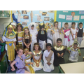 3 Holly dressed up as Ancient Egyptians