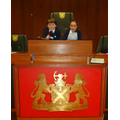 HP & RH sat in the Lord Mayor's Chair