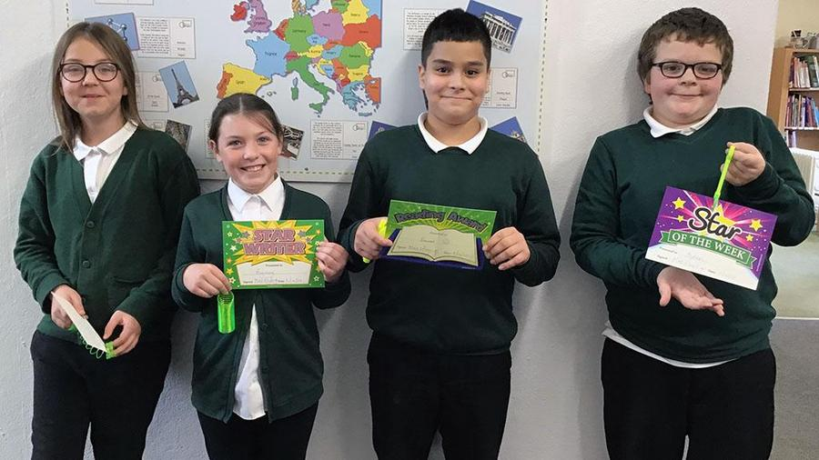 This week's certificate winners - well done!