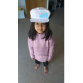 Faria has designed and decorated a Australia national hat with Australian flag.
