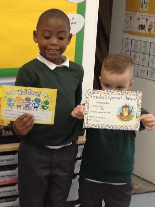 Handwriting and Reading Awards