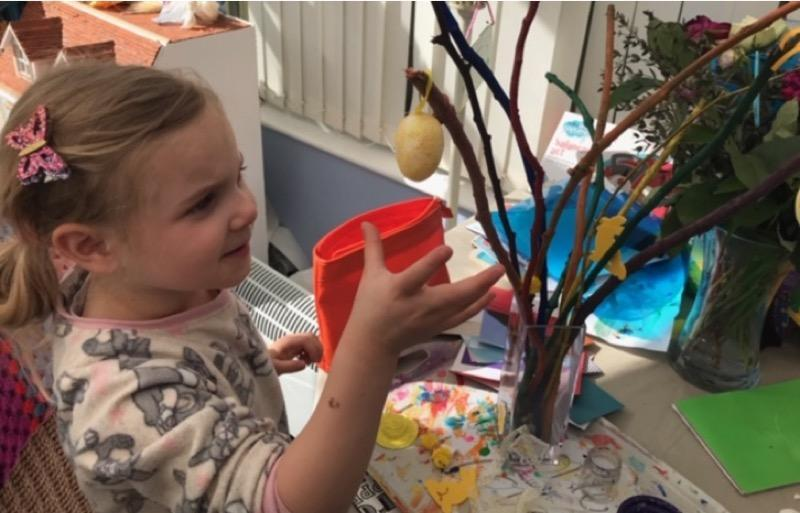 We Collected twigs and Painted them - Reception.jpg