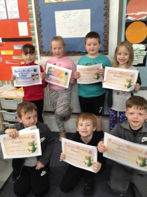This week's certificate winners