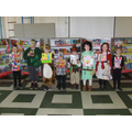 Winners of the KS1 dressing up competition.
