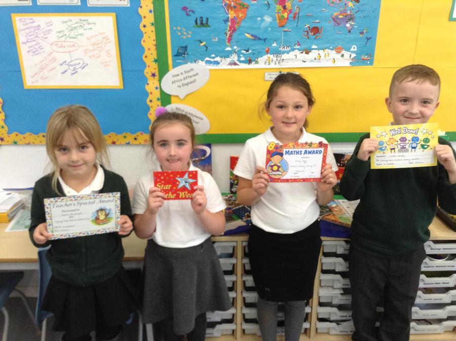 This week's Award Winners