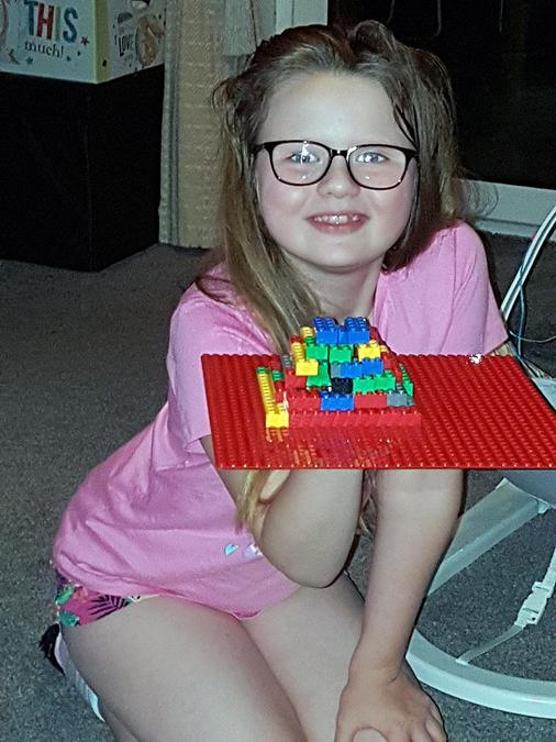 A Lego Pyramid for our Ancient Egypt project.