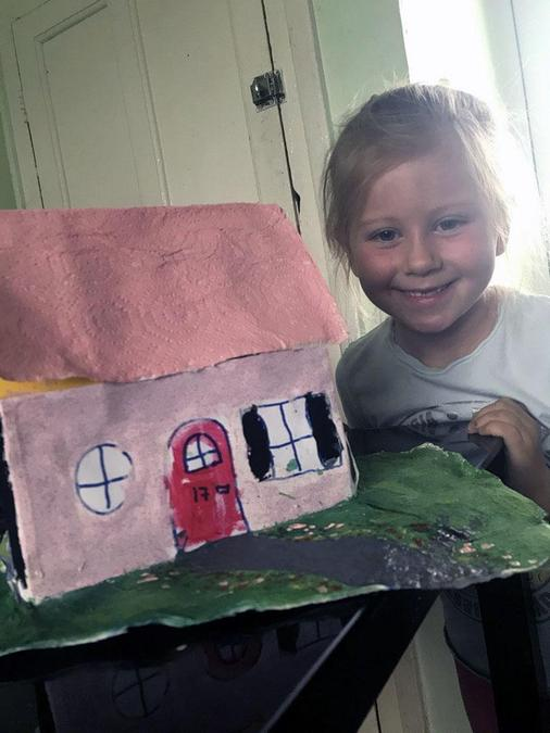 I designed a house. Pink's my favourite colour.