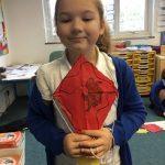 We made Chinese Dragon kites…