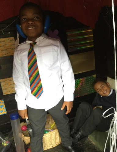 The children have been exploring the environment including the Sensory Shed
