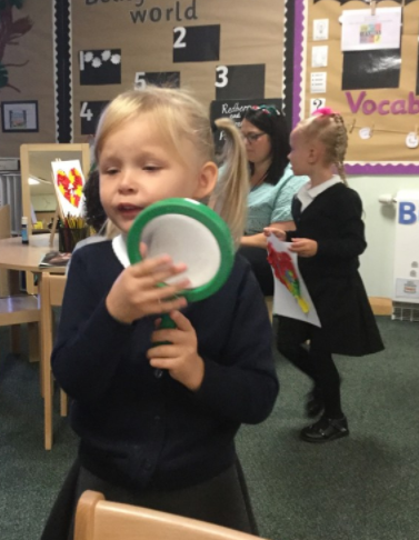 On a phonics hunt - looking for objects beginning with the phoneme m.