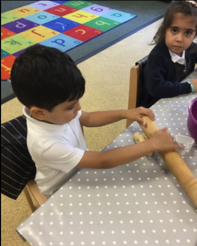Role play: making coolies for our friends