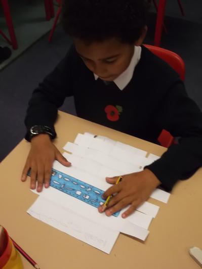 Writing hieroglyphs.