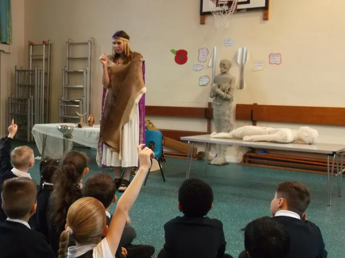 Queen Cleopatra VII visited Year 3.