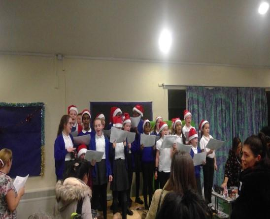 Choir performance developing confidence.