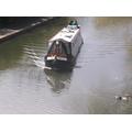 A narrow boat.