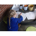 Mark making and learning to write.