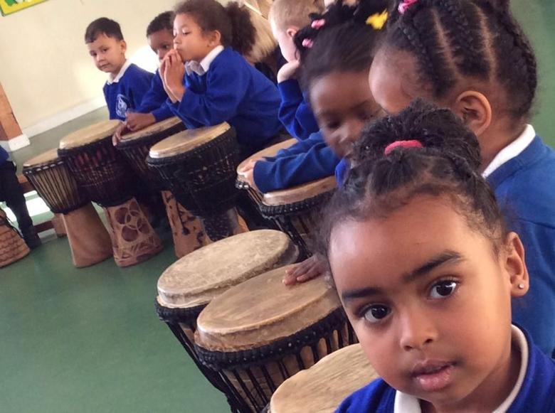 Developing teamwork - African drumming