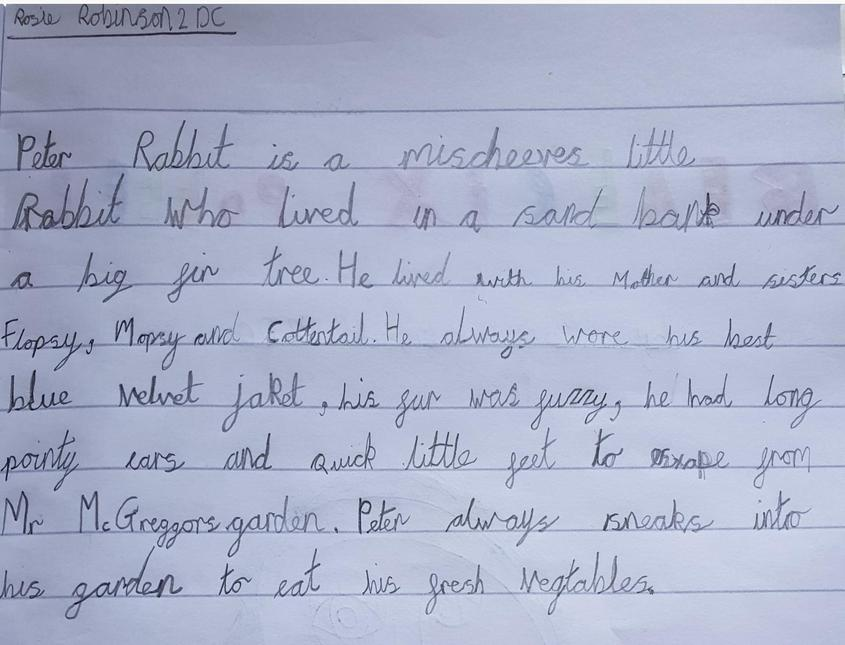 A wonderful character description from Ruby.