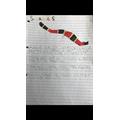 Lola's super snake writing