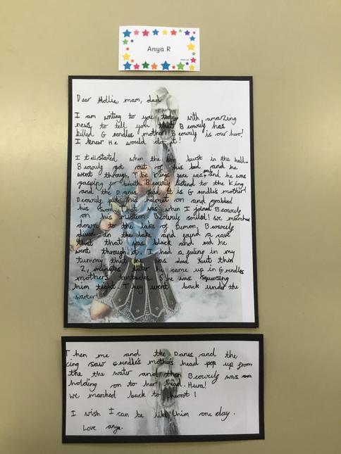 Anya's superb letter writing.