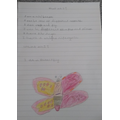 A super  riddle from Sophia. Love the butterfly!