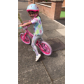 Getting the miles in on your bike Halle!