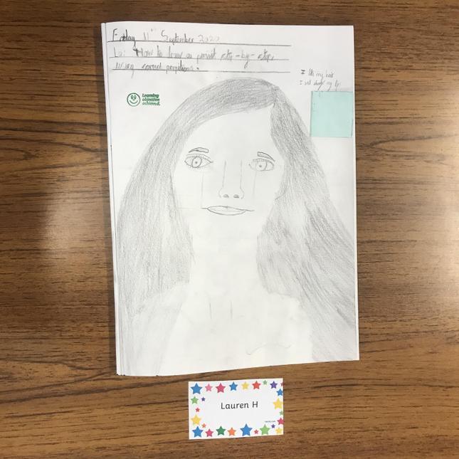 Lauren H's superb self portrait.