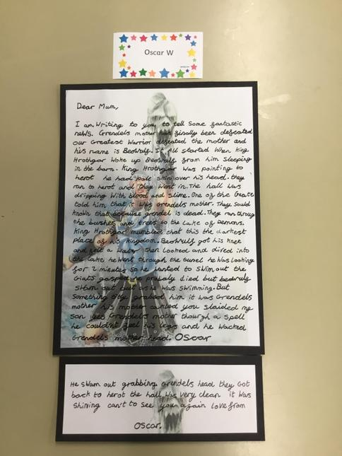 Oscar's brilliant Beowulf letter writing.