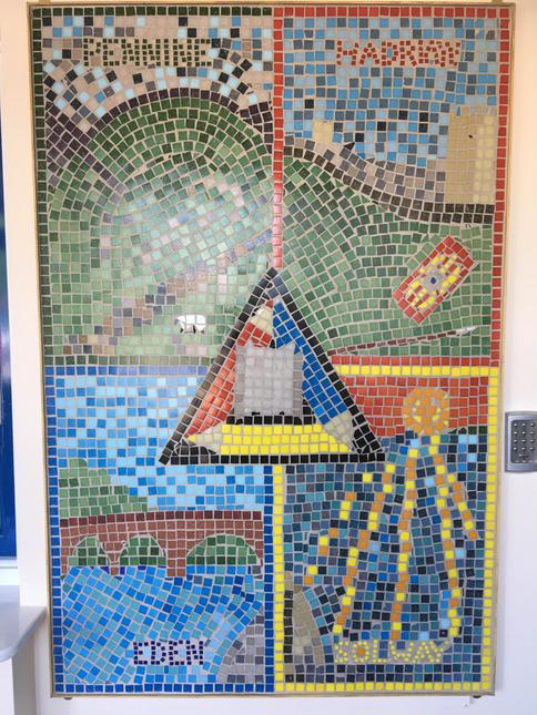 Each tile laid entirely by pupils!....