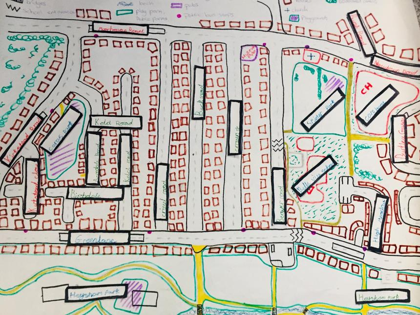 Layton's map of Belle Vue