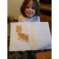 Pippa's great tiger writing.