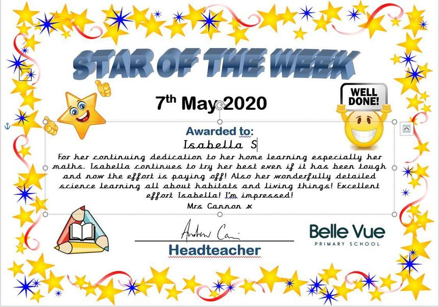 2DC's star of the week - Isabella S