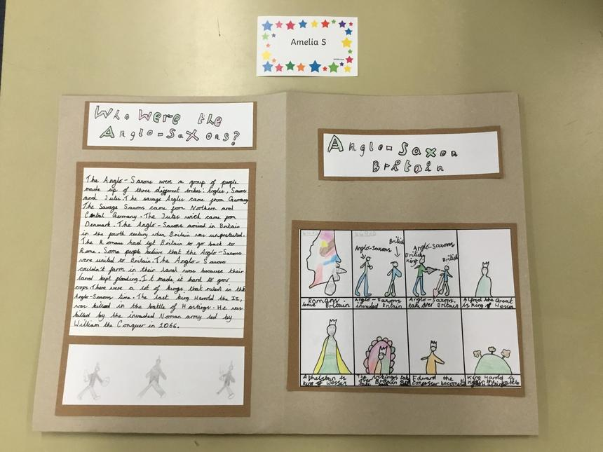 Amelia S's stunning Anglo-Saxon booklet.