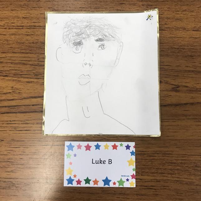 Luke's excellent self portrait.