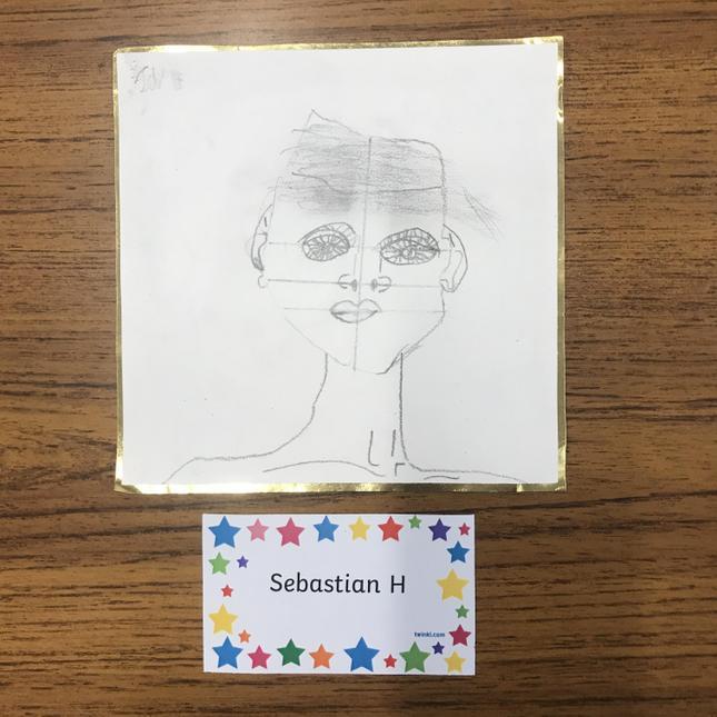 Seb's excellent self portrait.