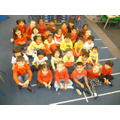 hildren wear their red and yellow clothes in celebration of Spanish Day!