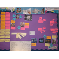 Displays in Year 5 to support the pupils learning that they have created themselves