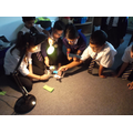 the shadow photos are our science lesson on 'shadows' when we were learning about light.