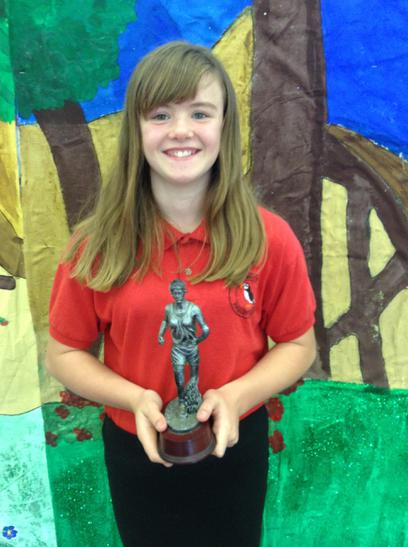 Sports girl Trophy awarded to Charlie