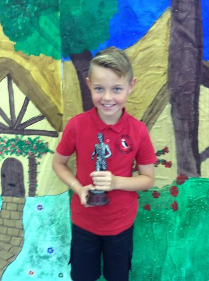 Sports boy Trophy awarded to Zachary