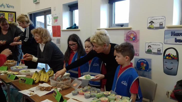 Lots of parents volunteered to help us
