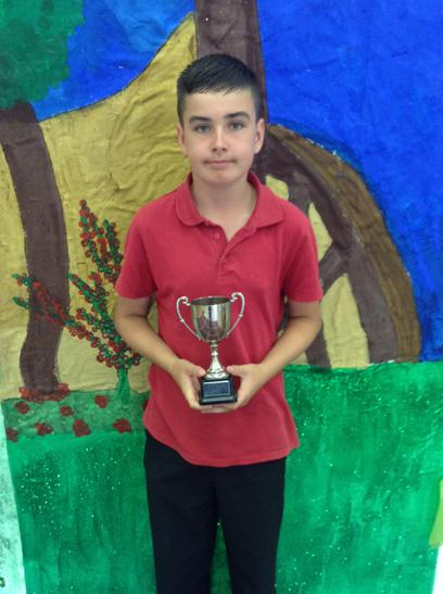 The Holdsworth Maths Trophy awarded to Aidan