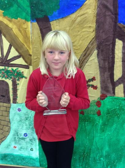 Mrs Halliwell Friendship trophy awarded to Holly