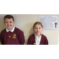 Jack was voted Head Boy and Jessica Head Girl - Well done!