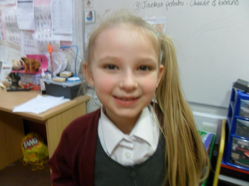 Superb effort with her reading comprehension this week.