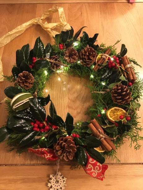 Maz's winning wreath