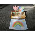 Jana has made a beautiful window box and rainbow!